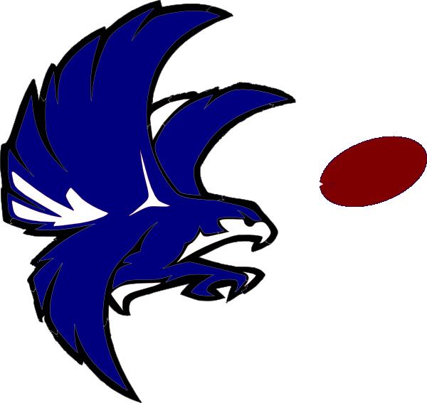 Blue and white clip. Falcon clipart atlanta falcon