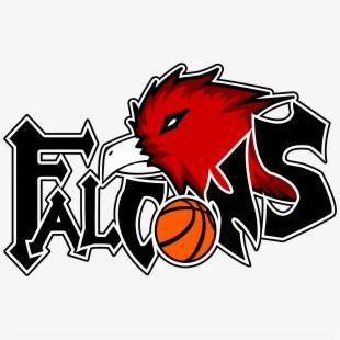 Falcon clipart basketball. Red logo design
