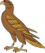 Eagle clip art for. Falcon clipart coat arm
