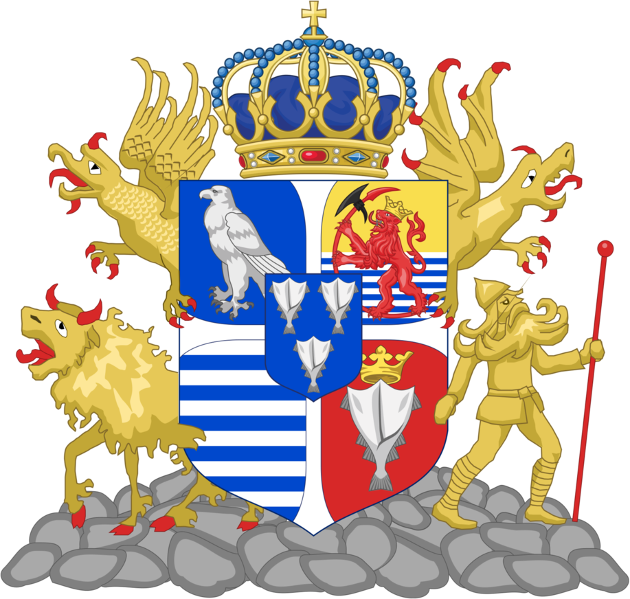 Falcon clipart coat arm. Kingdom of iceland arms