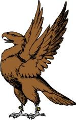 Falcon clipart coat arm. Eagle clip art for
