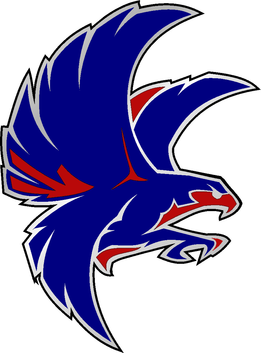 Blue and red free. Falcon clipart cool
