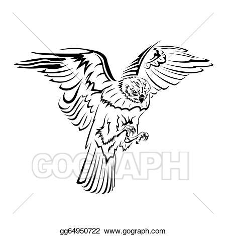 Falcon clipart cool. Vector art flight tattoo