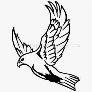 Line drawing easy . Falcon clipart flying falcon
