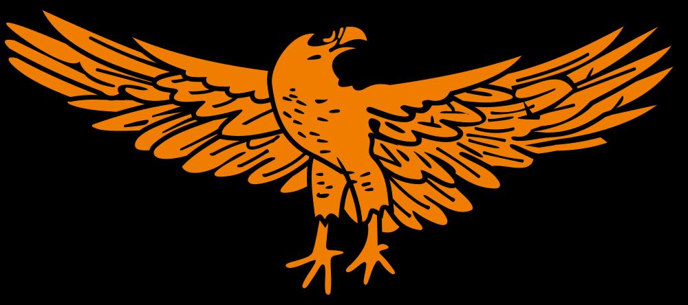 Falcon clipart golden hawk. Onlinelabels clip art eagle