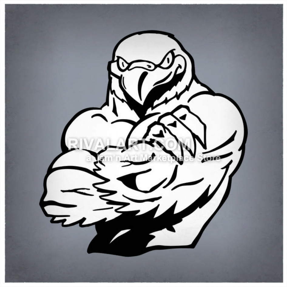 Falcon clipart hand. Tough with muscles