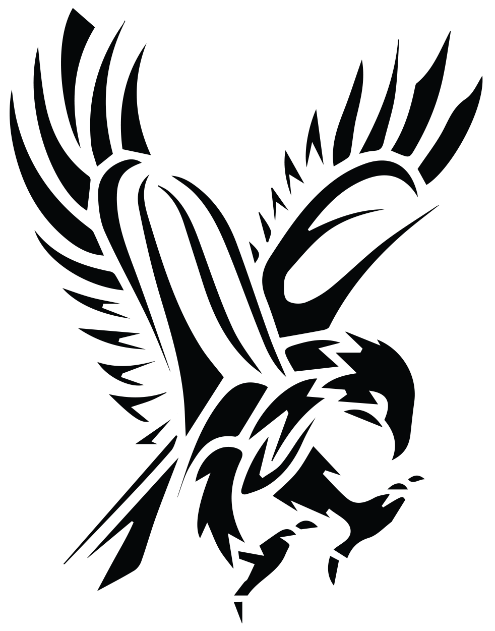 Wing clipart hawk. Flying silhouette at getdrawings