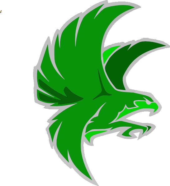 Falcon clipart illustration. Green clip art at