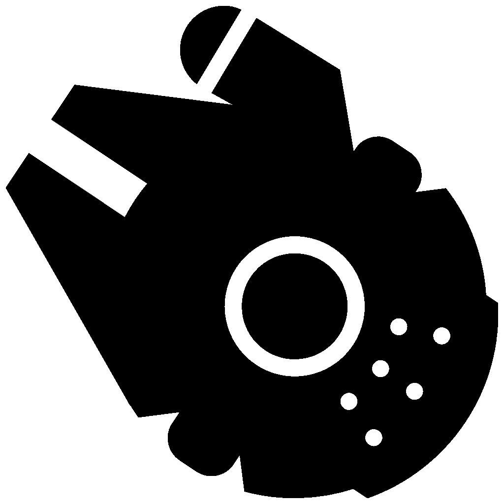 Millennium icon free download. Falcon clipart illustration
