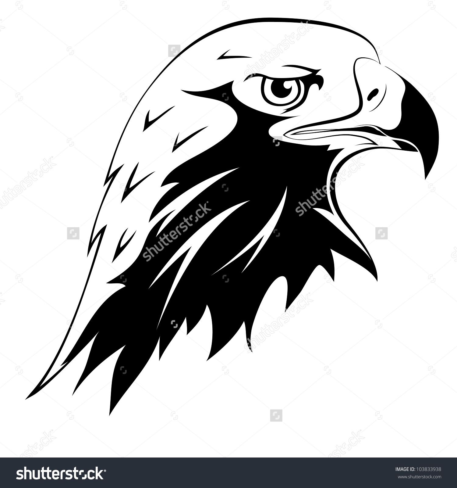 Falcon clipart outline. Head a wild predator