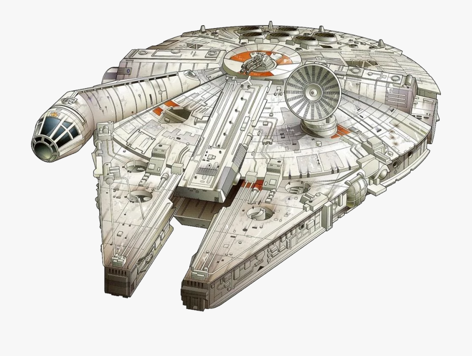 Starwars clipart millennium falcon. Star wars png