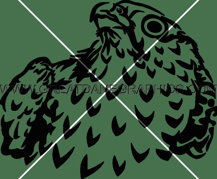 Majestic production ready artwork. Falcon clipart stencil