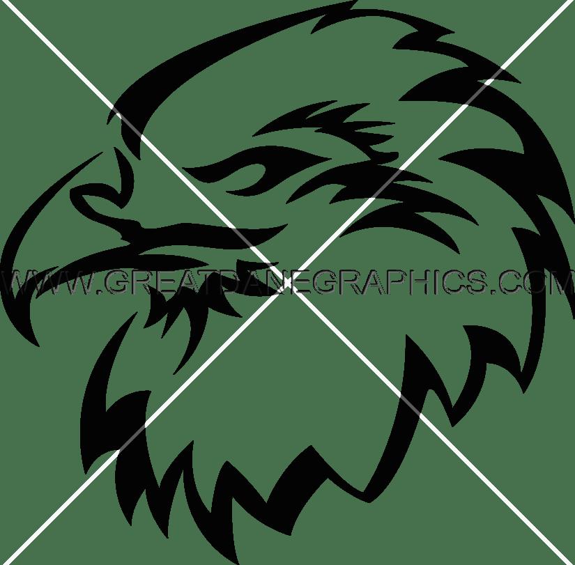 Head production ready artwork. Falcon clipart stencil