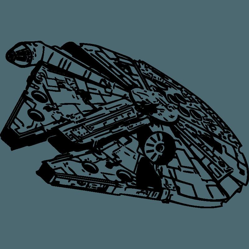 Falcon clipart stencil. Millennium star wars clip