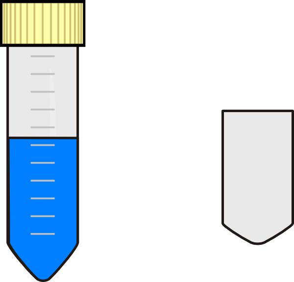 Test tube with blue. Falcon clipart vector