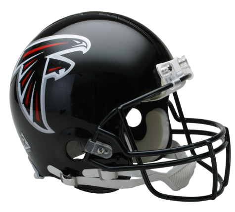 Falcons helmet png. Atlanta vsr authentic