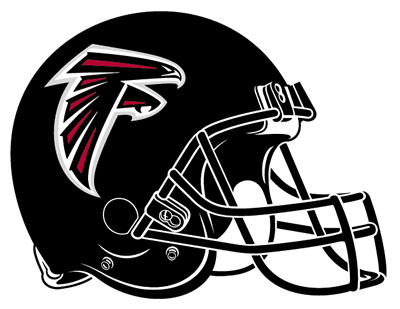 Falcons helmet png. Atlanta black sticker transparent