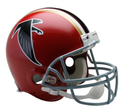 Atlanta vsr authentic throwback. Falcons helmet png