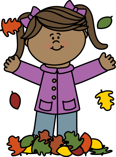 Clip art images girl. Fall clipart