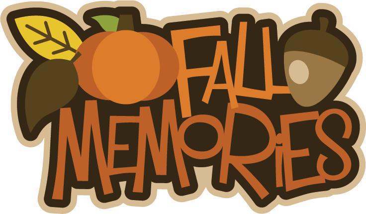 Fall scrapbook title files. Memories clipart svg