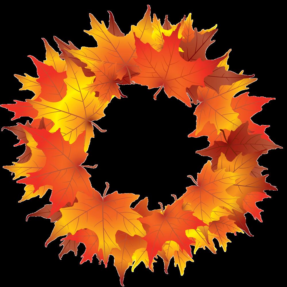 wreath clip art. Fall clipart autumn begins