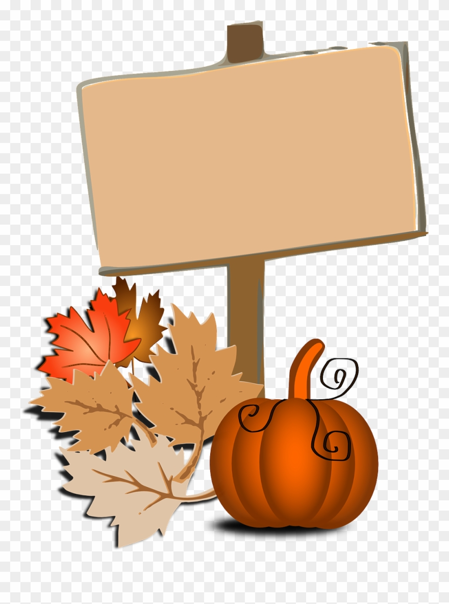clip art png. Fall clipart autumn sign