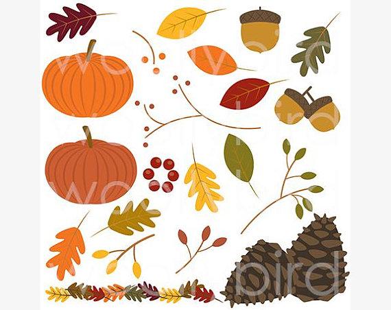 Clip art leaves pumpkin. Fall clipart autumn theme