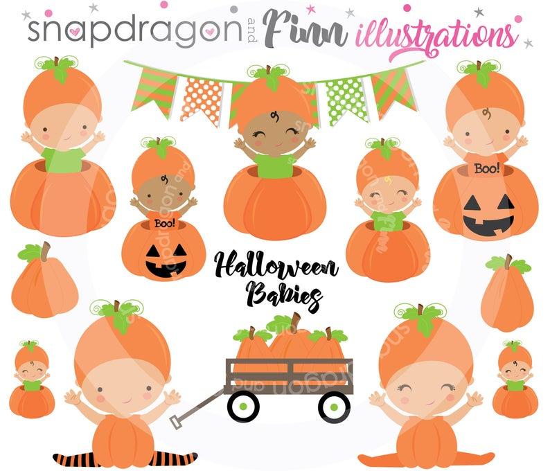 Buy get halloween pumpkin. Fall clipart baby