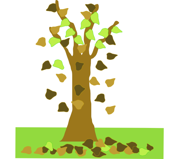With leaves falling clip. Fall clipart bare fall tree