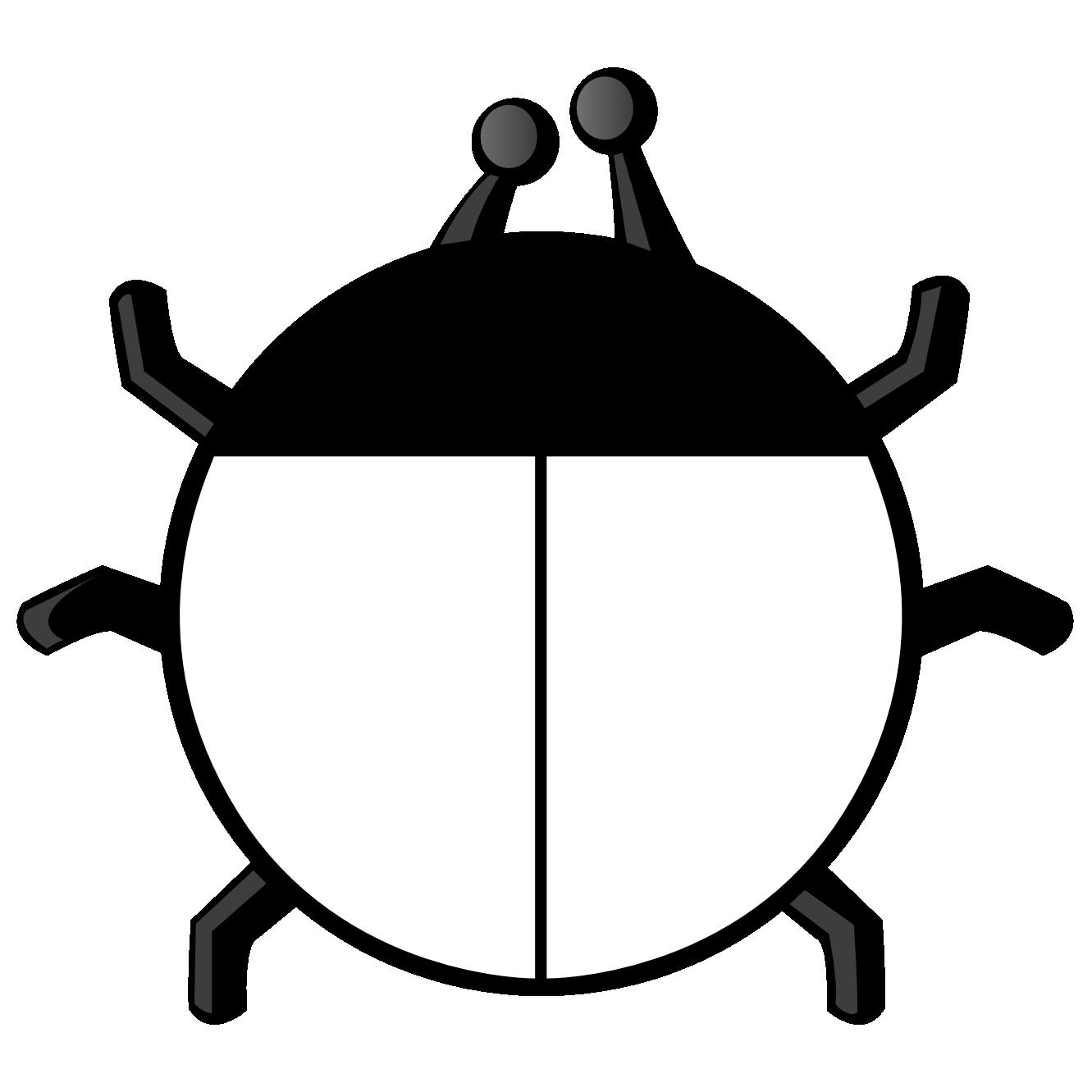 Ladybug . Lake clipart black and white