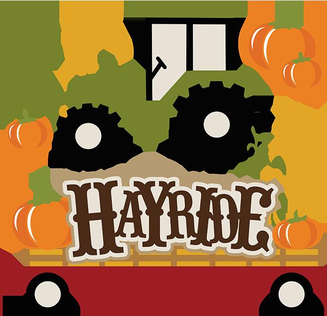 Tractor pages hayride svg. Scrapbook clipart scrapbooking