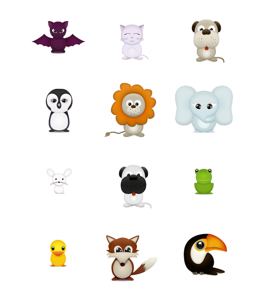 Fall clipart cute critter. Critters free icons icon