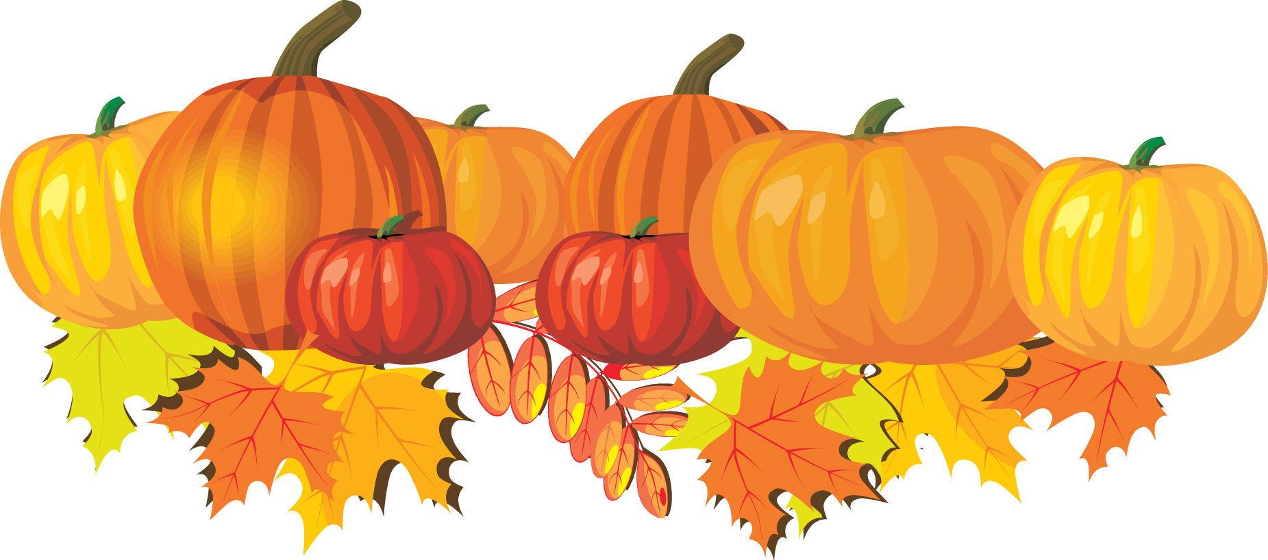 Pumpkins and leaves clip. Thanks clipart autumn
