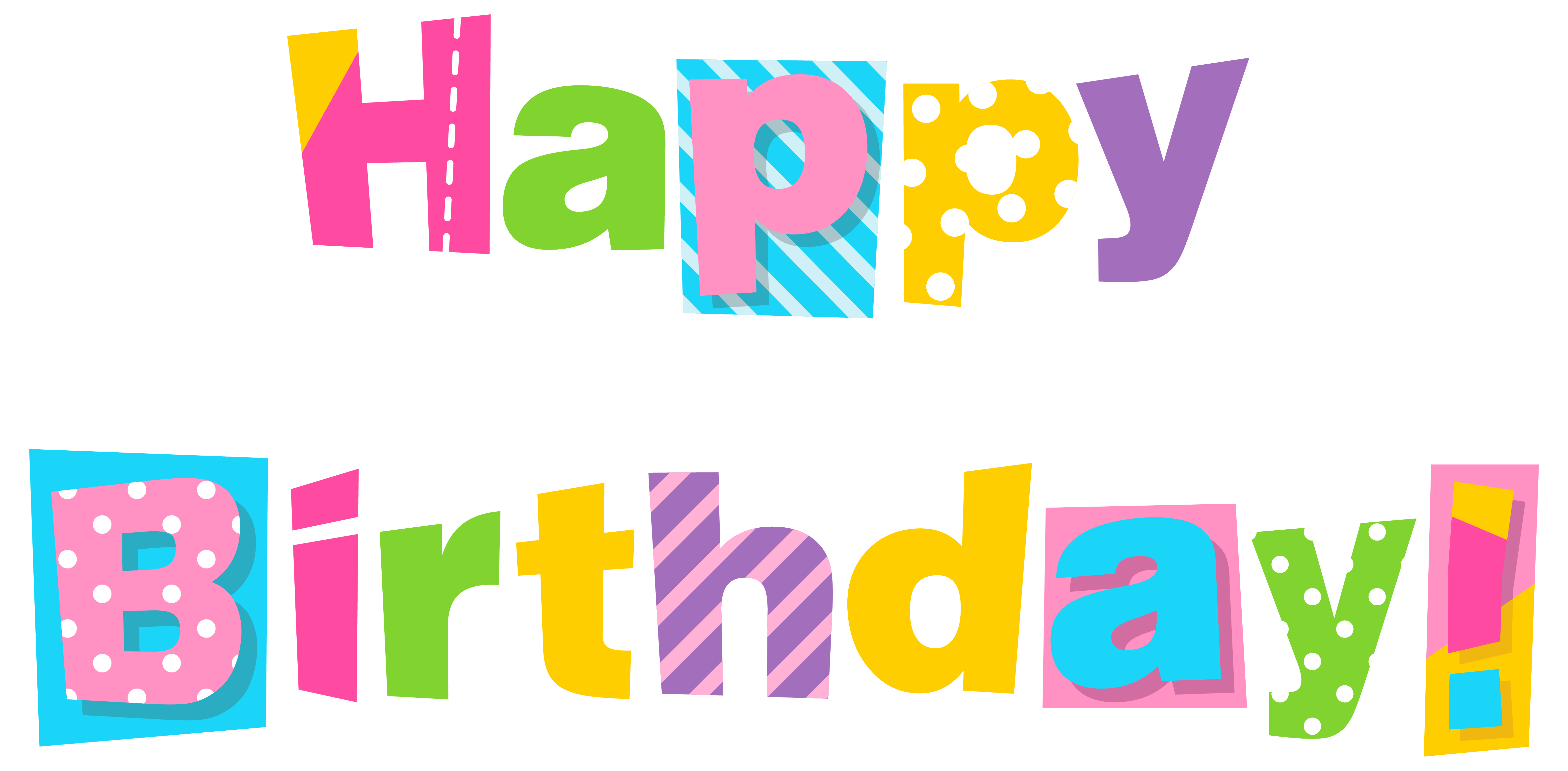 Happy birthday image. Hope clipart colorful