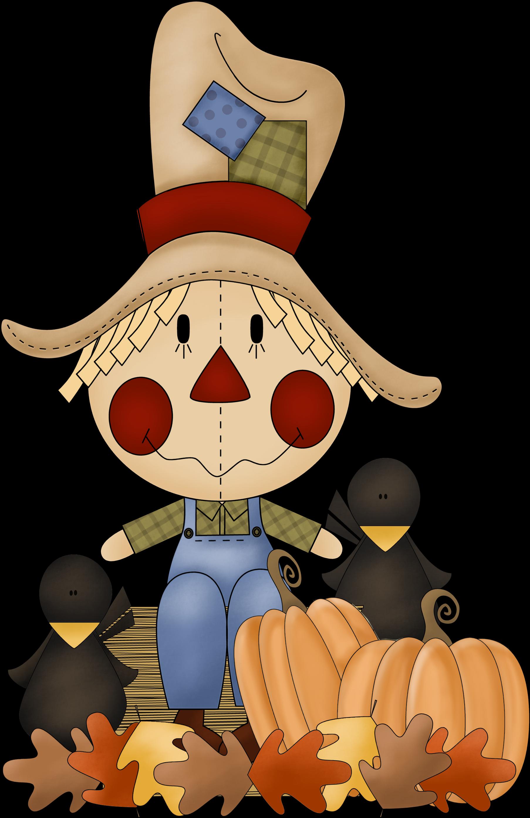 Scarecrow clip art autumn. Fall clipart october