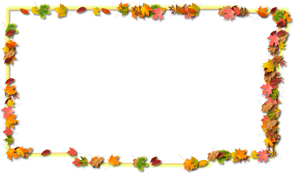 Broward fancy frame style. Fall leaf border png