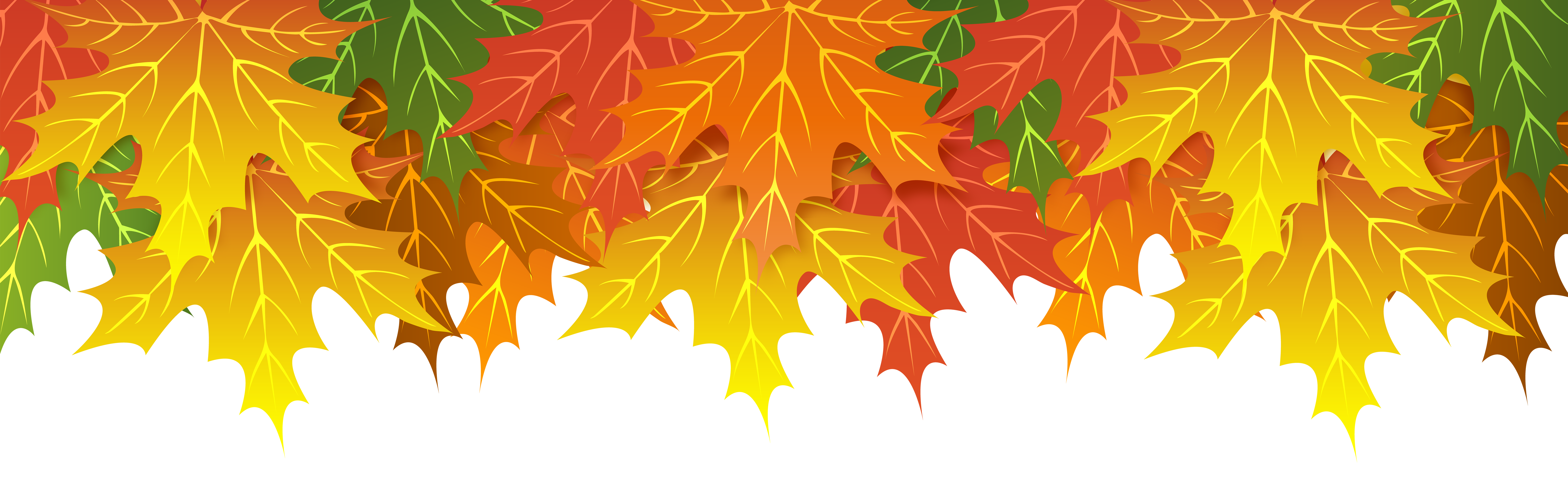 Fall leaves border png. Upper clip art image