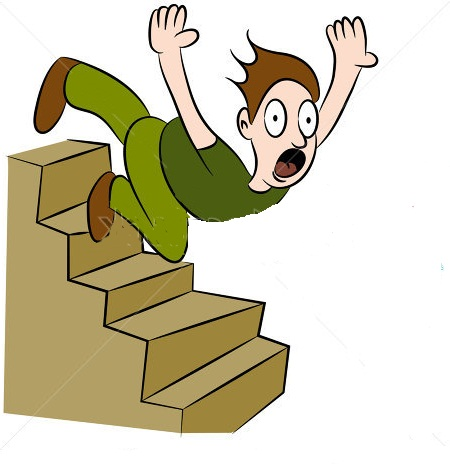 Someone down stairs . Falling clipart