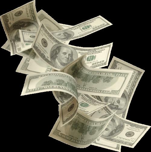 Falling money background png. Fast transparent stickpng