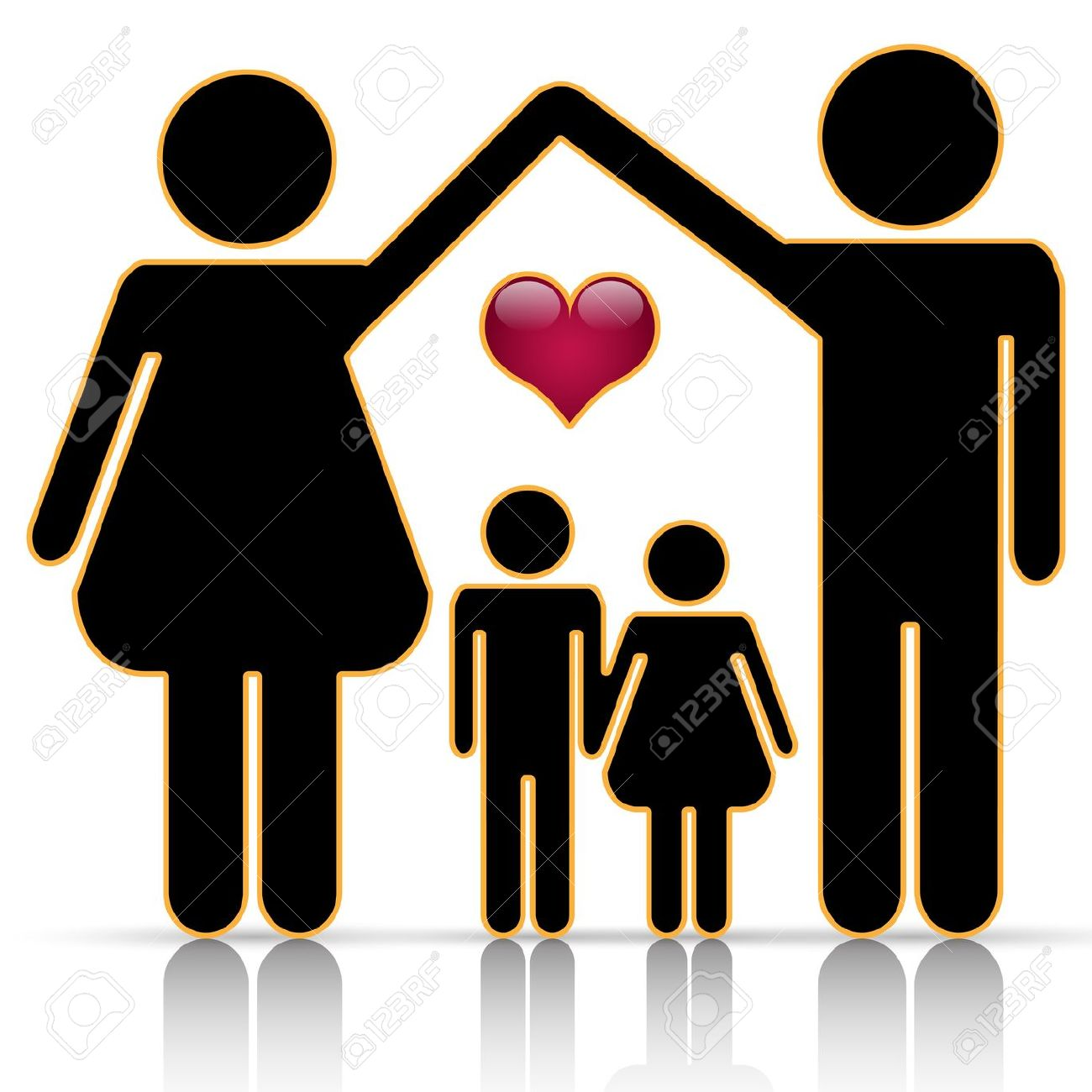 Families clipart. Silhouette family at getdrawings
