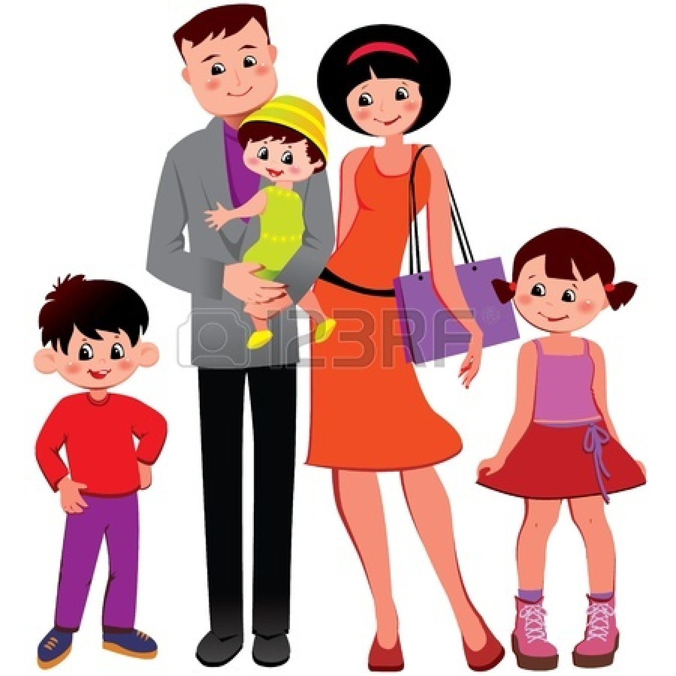 Families clipart. Many