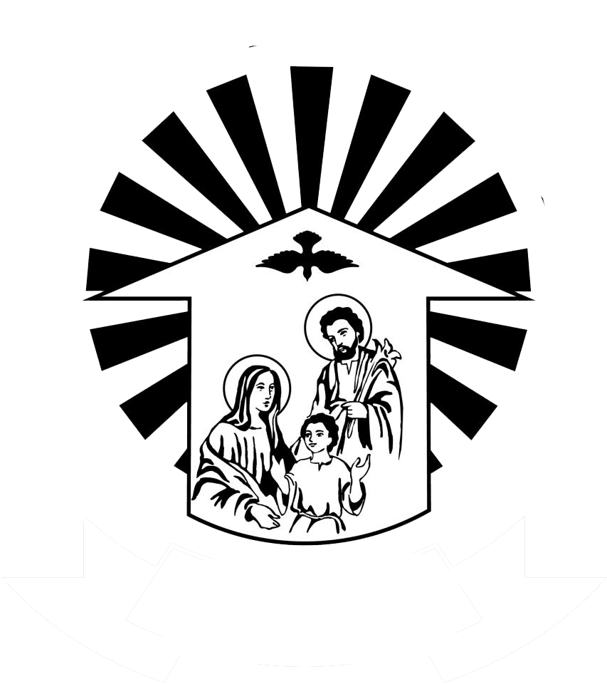 St antony s church. Families clipart black and white