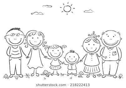 Families clipart black and white. Family station