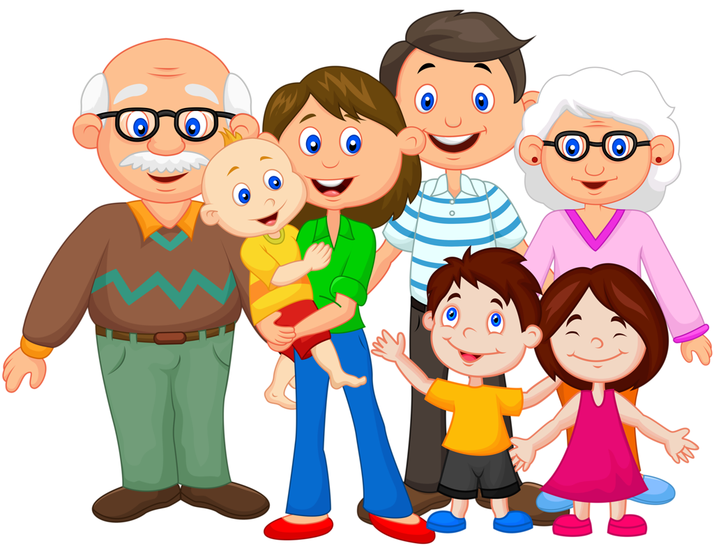 Photo clipart extended family.  png things happen
