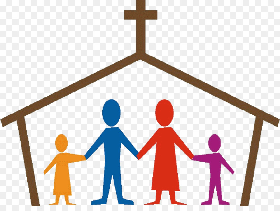 Cartoon child transparent . Family clipart church