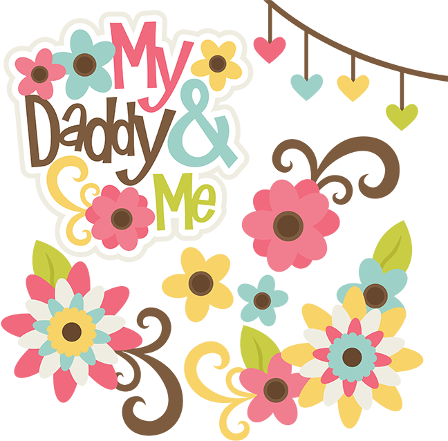 Family clipart scrapbook. My daddy me svg