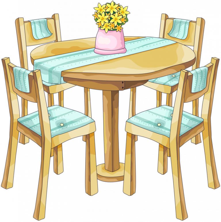 Furniture clipart dinner table, Furniture dinner table ...