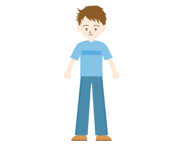 A standing man family. Families clipart exercise
