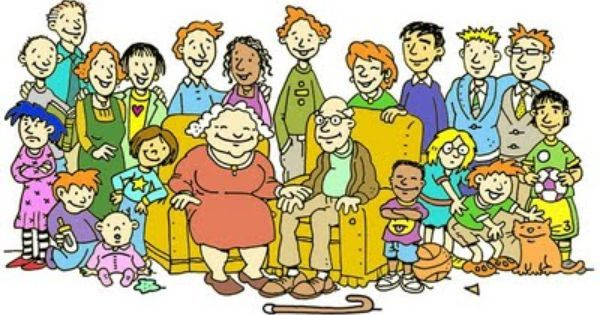 Spending time with the. Families clipart extended family