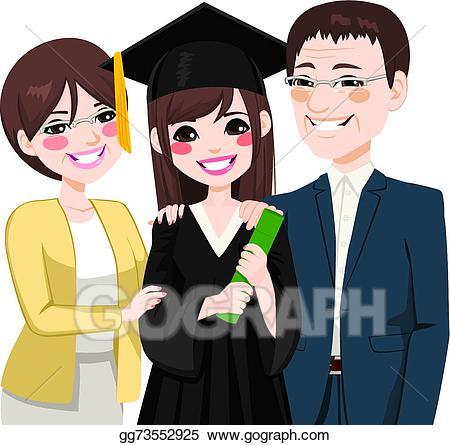 Eps vector asian parents. Parent clipart proud parent